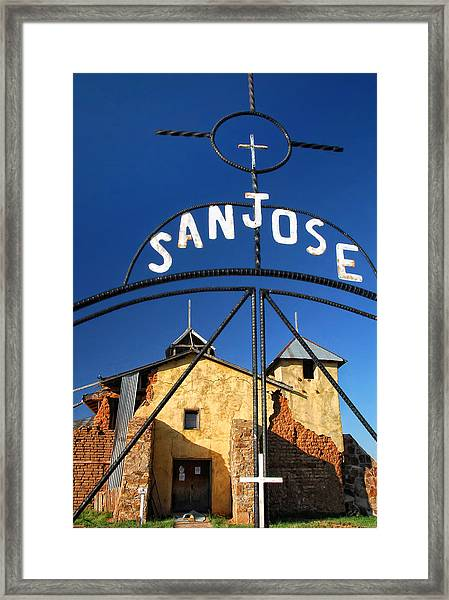 Abandoned Colonias Church Framed Print