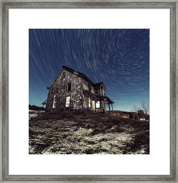 Abandoned Farm House In Nova Scotia At Framed Print