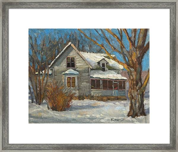 abandoned in Valley Framed Print