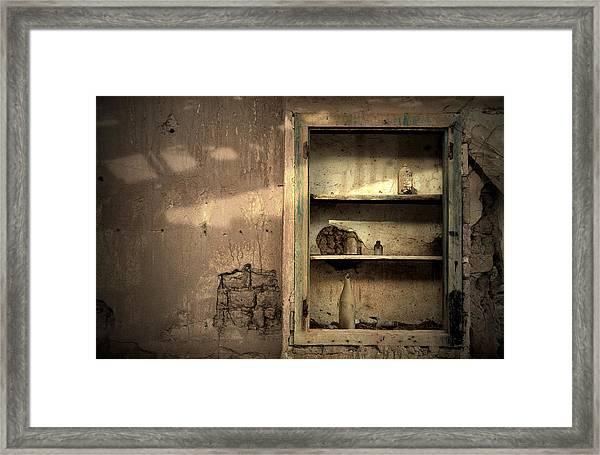 Abandoned Kitchen Cabinet Framed Print