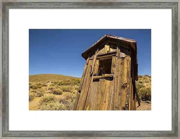 Abandoned Outhouse Framed Print