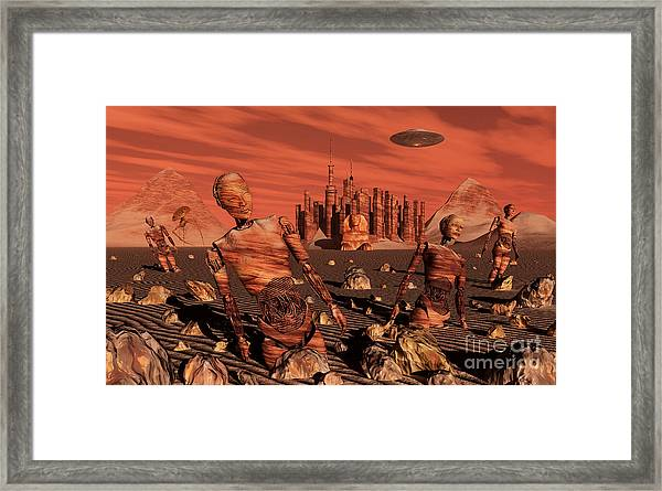 Abandoned Relics From An Advanced Framed Print