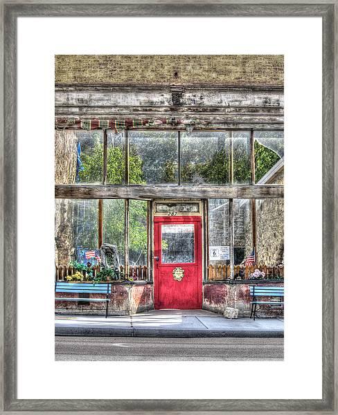 Abandoned Shop Framed Print