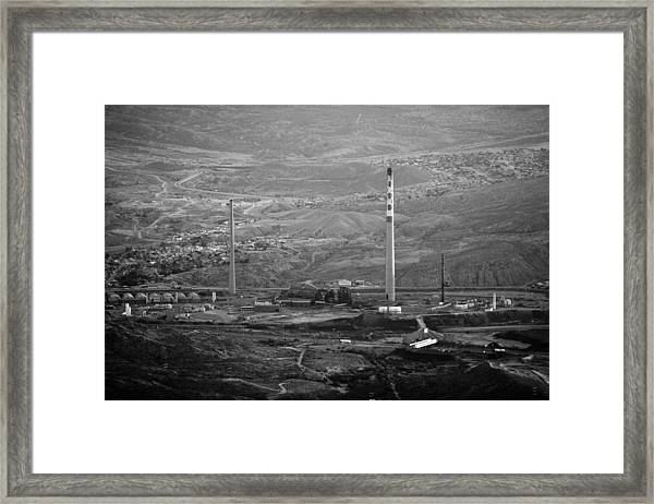 Abandoned Smokestacks Framed Print