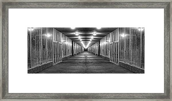 Abandoned Strip Mall Panoramic Framed Print
