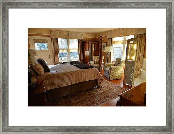 Abbeymoore Manor - Victoria Bc Iris Room Framed Print