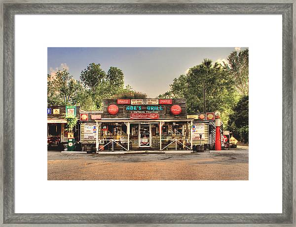 Abe's Grill - Fine Southern Food Framed Print