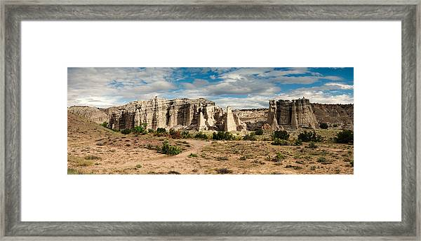 Abiquiu New Mexico Plaza Blanca In Technicolor Framed Print