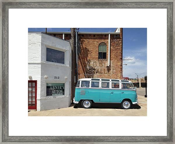 Abner's Autos Framed Print