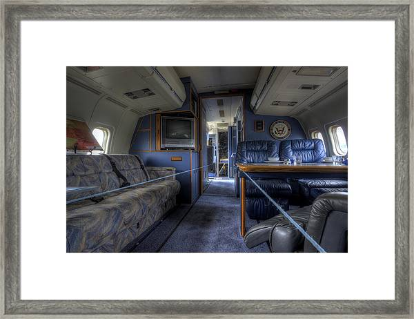 Aboard Air Force Two Framed Print