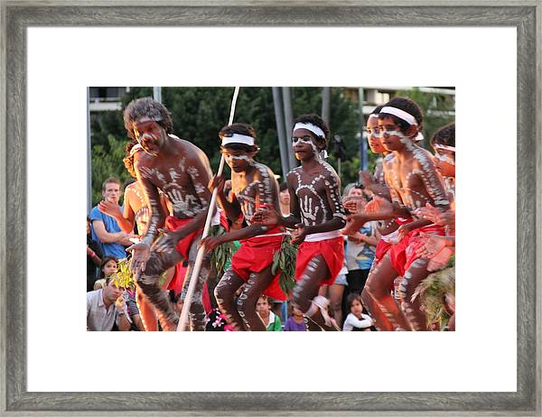 Framed Print featuring the photograph Aboriginal Dancers by Debbie Cundy