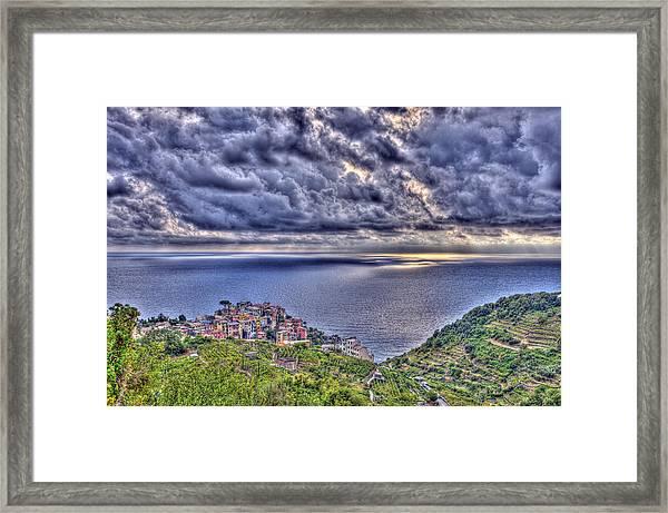 Above Corniglia Framed Print