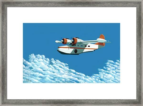 Above It All  The Grumman Goose Framed Print