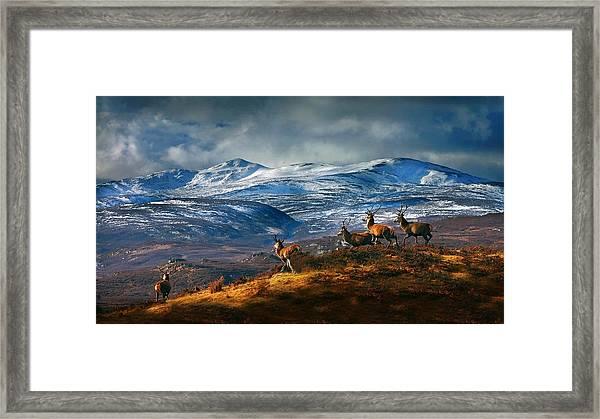Above Strathglass Framed Print