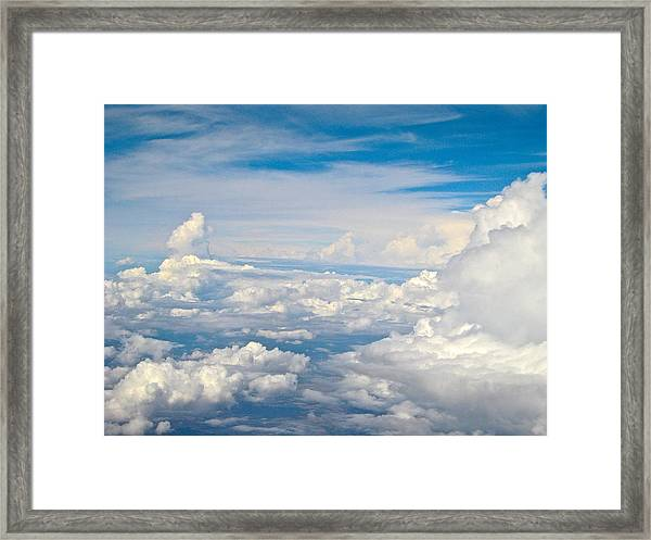Above The Clouds Over Texas Image B Framed Print
