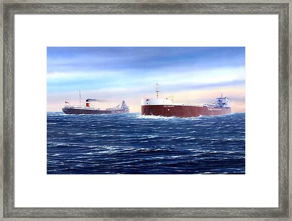 Above The Huron Cut Framed Print