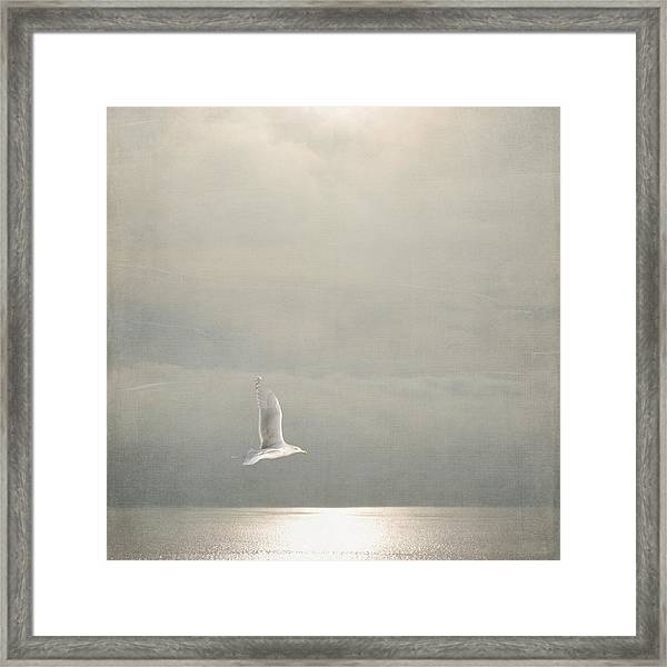 Above The Sea Framed Print