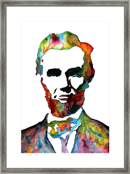 Abraham Lincoln Original Watercolor  Framed Print