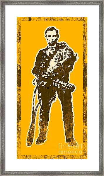Abraham Lincoln - The First Badass Framed Print