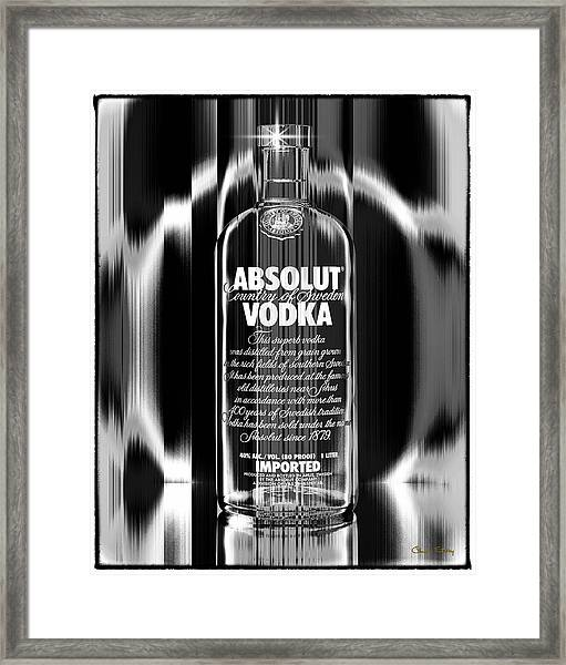 Absolut Black And White Framed Print