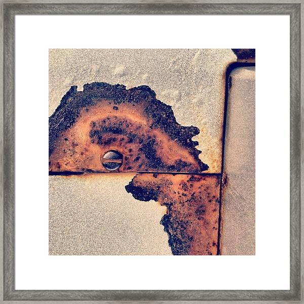 Absract Rust Framed Print