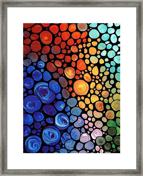 Abstract 1 - Colorful Mosaic Art - Sharon Cummings Framed Print