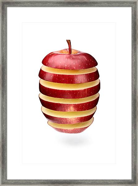 Abstract Apple Slices Framed Print