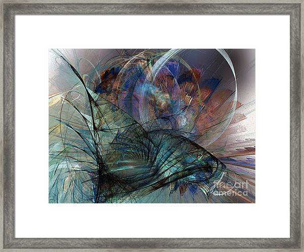Abstract Art Print In The Mood Framed Print