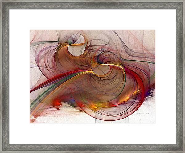 Abstract Art Print Inflammable Matter Framed Print