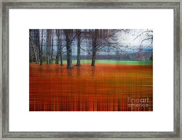 abstract atumn II Framed Print