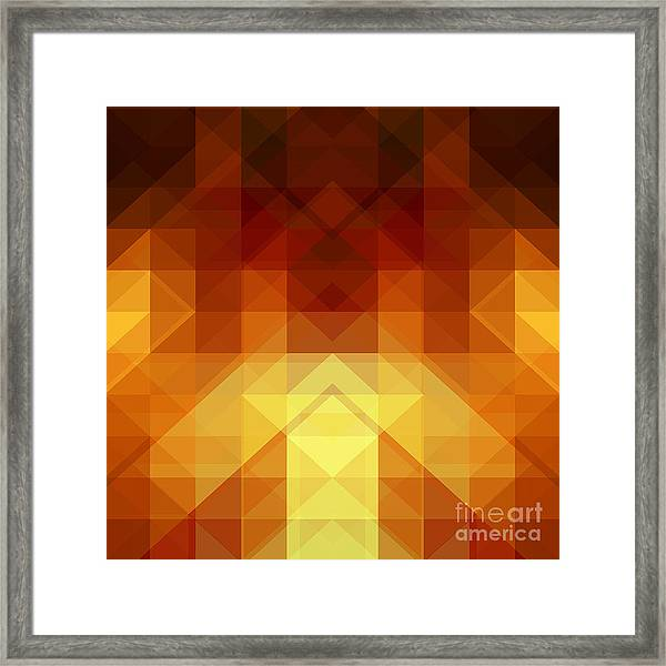 Abstract Background From Triangle Shapes Framed Print