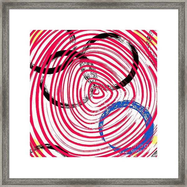 Abstract Background Pattern, With Framed Print