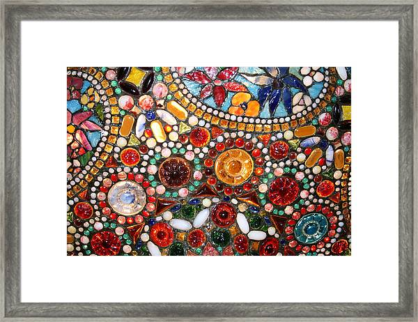 Abstract Beads Framed Print