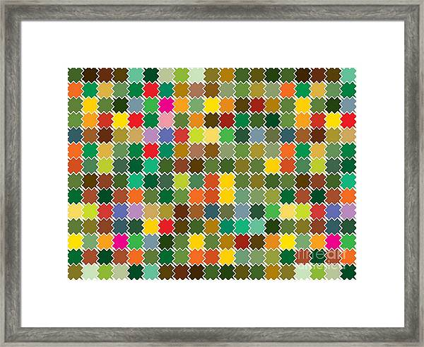 Abstract Bright Colorful Seamless Framed Print