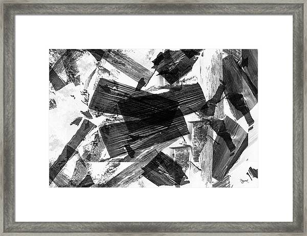 Abstract Chunky Framed Print