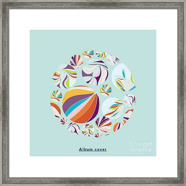 Abstract Circles Background -  With Framed Print