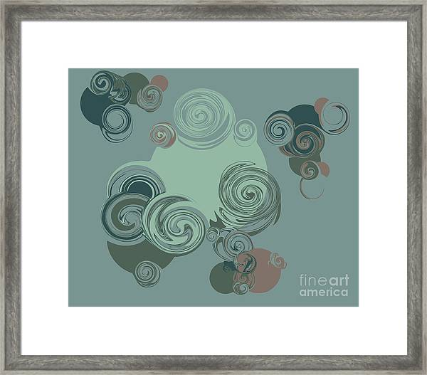 Abstract Circles Pattern Background Framed Print by Castecodesign