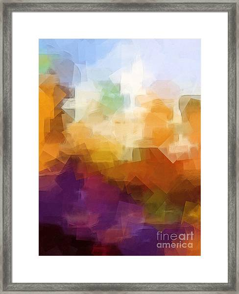 Abstract Cityscape Cubic Framed Print