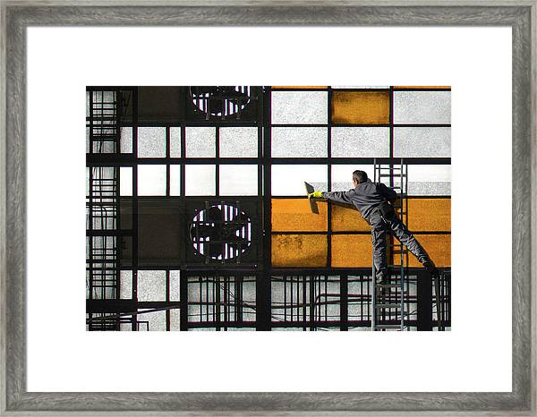 Abstract Cleanliness Framed Print