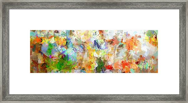 Abstract Collage Panorama Framed Print