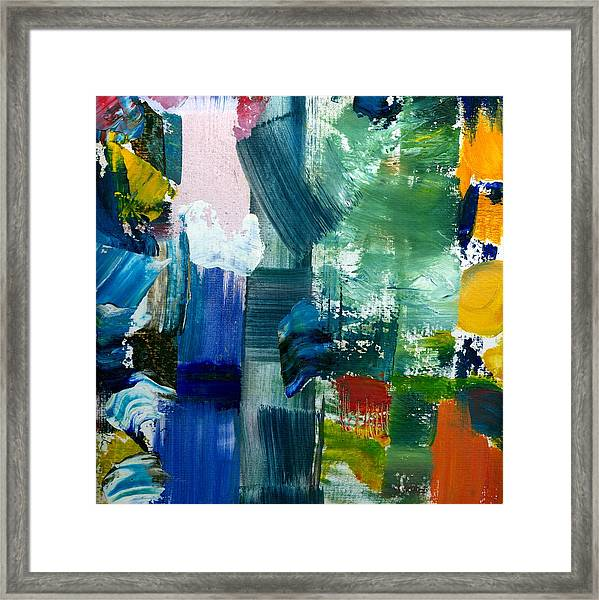 Abstract Color Relationships Lll Framed Print