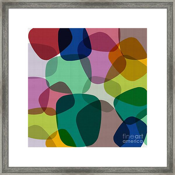 Abstract Colorful Background. Vector Framed Print