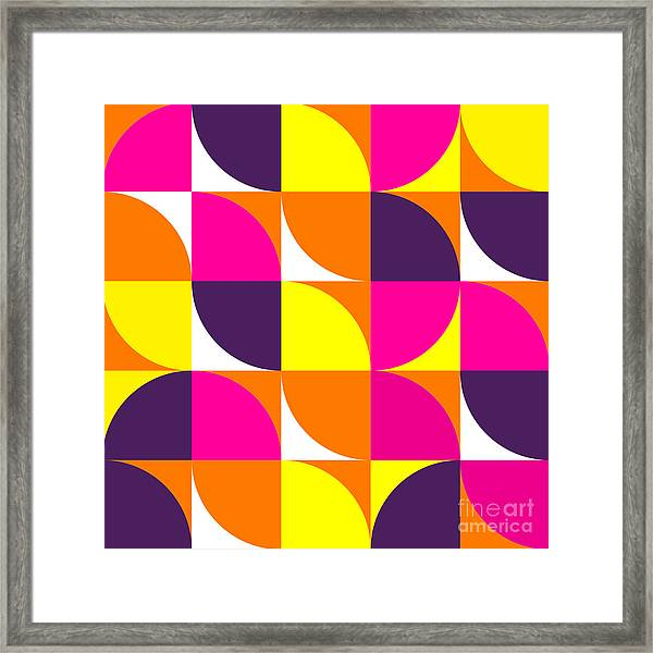 Abstract Colorful Geometric Shapes Framed Print