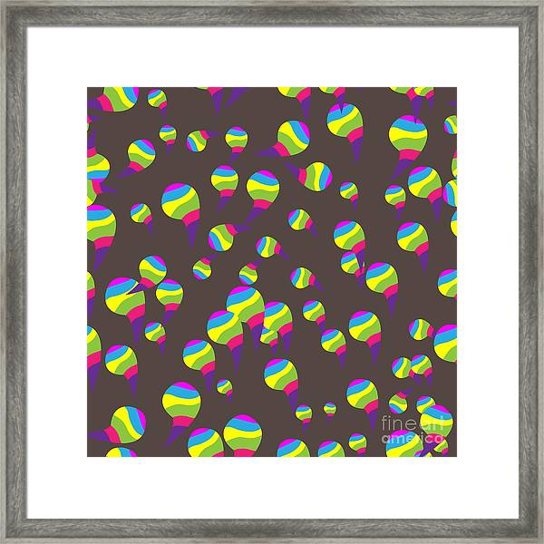 Abstract Colors Seamless Background Framed Print