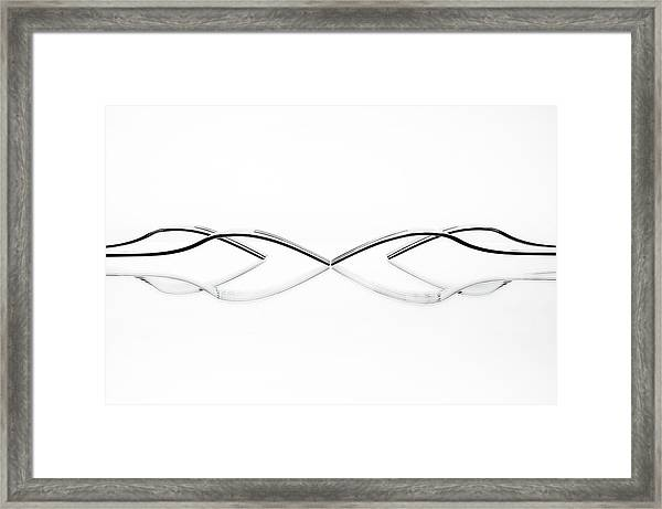 Abstract Cutlery Framed Print by Greetje Van Son