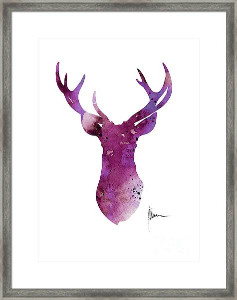 Abstract Deer Head Artwork For Sale Framed Print