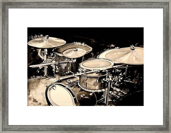 Abstract Drum Set Framed Print