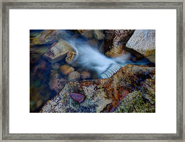 Abstract Falls Framed Print