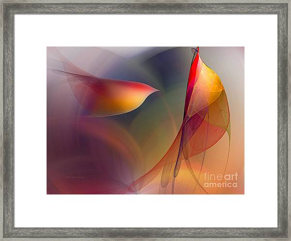 Abstract Fine Art Print Early In The Morning Framed Print