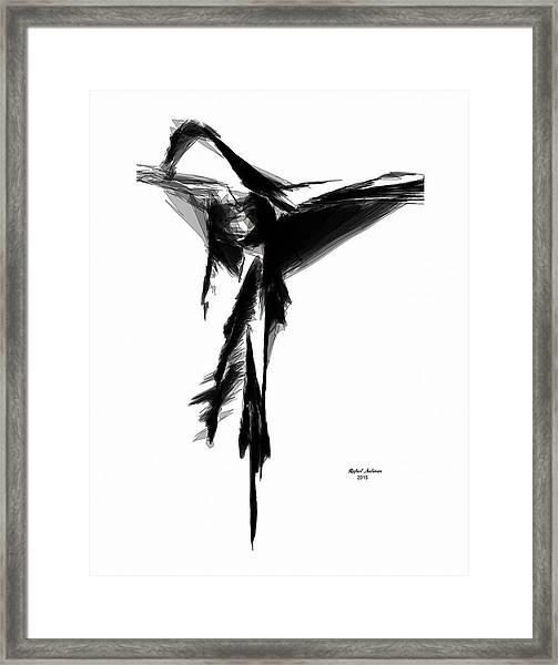 Abstract Flamenco Framed Print